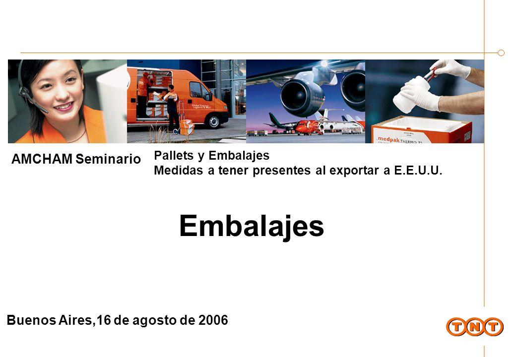 Temario Acerca de TNT Embalajes: Breve reseña histórica y concepto Dimensiones y especificaciones de los embalajes en función del mercado aéreo en Argentina Embalajes de carga peligrosa Medpack TNT Embalajes
