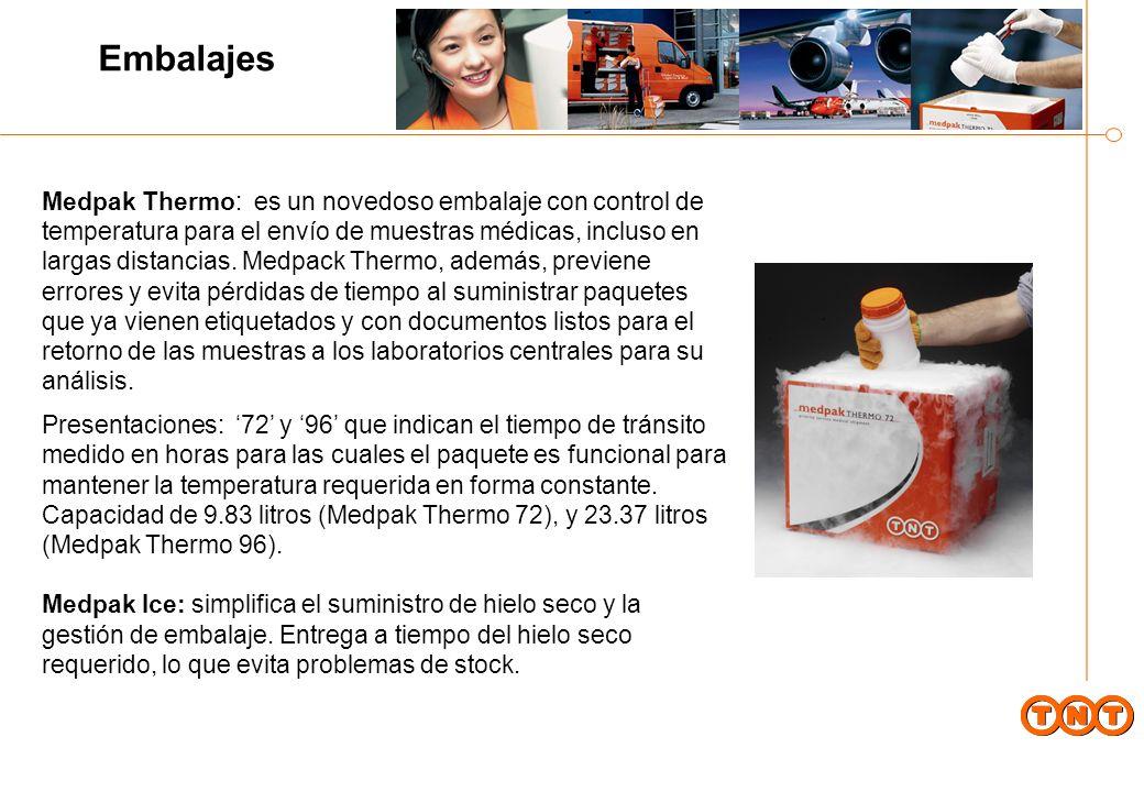 Embalajes Medpak Thermo: es un novedoso embalaje con control de temperatura para el envío de muestras médicas, incluso en largas distancias.