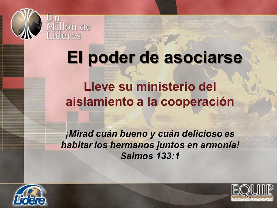 Lleve su ministerio del aislamiento a la cooperación ¡Mirad cuán bueno y cuán delicioso es habitar los hermanos juntos en armonía! Salmos 133:1 El pod