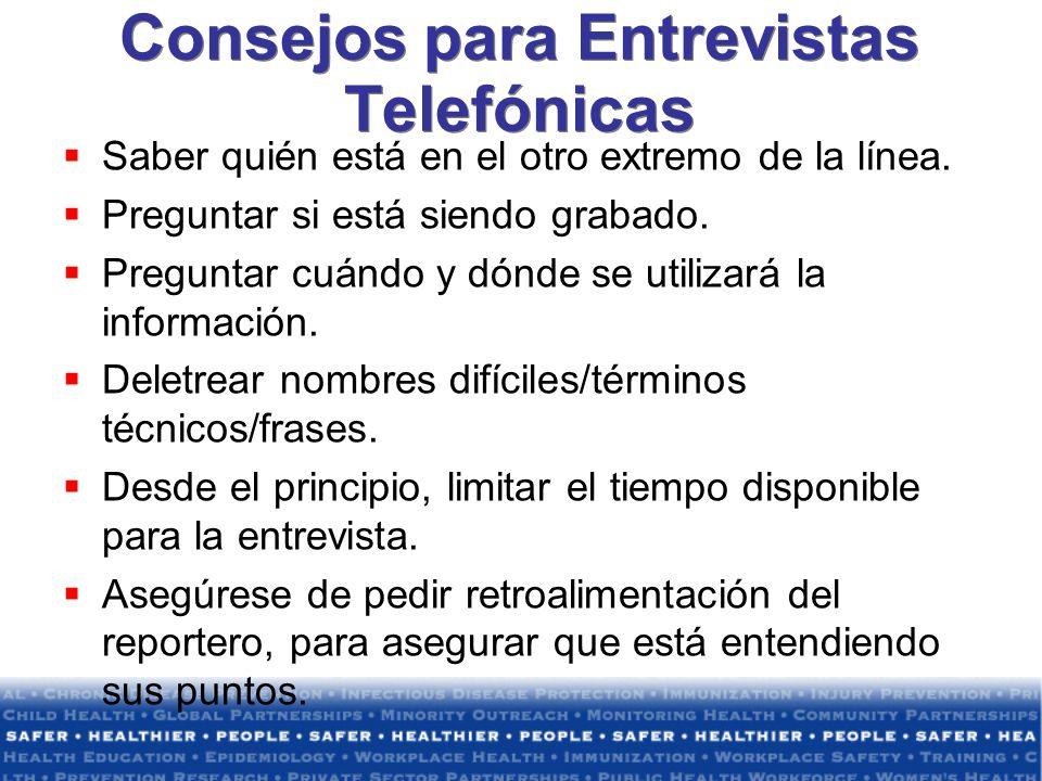 Consejos para Entrevistas Telefónicas Saber quién está en el otro extremo de la línea.