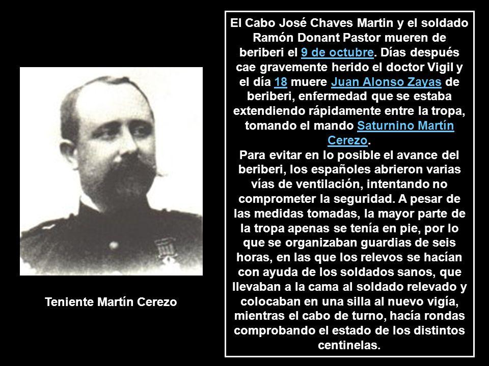 El Cabo José Chaves Martin y el soldado Ramón Donant Pastor mueren de beriberi el 9 de octubre.