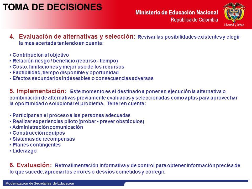 Modernización de Secretarías de Educación Ministerio de Educación Nacional República de Colombia 1.
