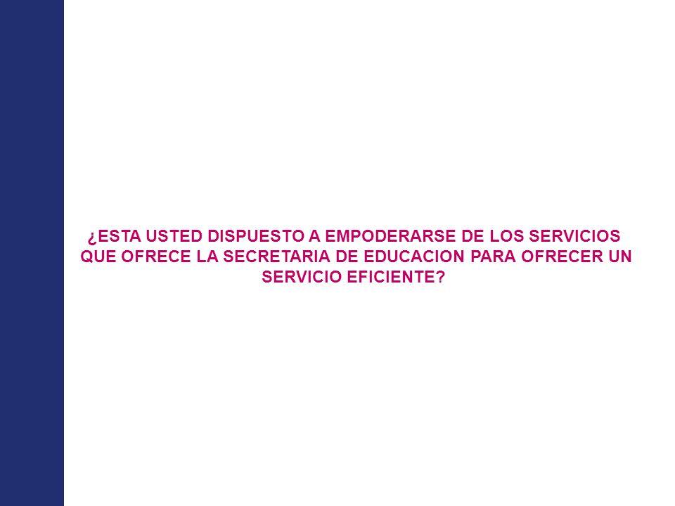 Modernización de Secretarías de Educación Ministerio de Educación Nacional República de Colombia ¿ Que implicaciones han tenido mis decisiones sobre los equipos, los procesos y la Secretaría de Educación .