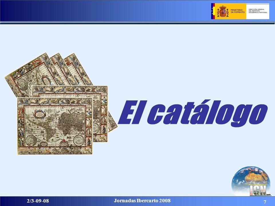 18 2/3-09-08 Jornadas Ibercarto 2008 Estructuras de los metadatos: 1) ISO 19115: esencial para documentar documentos cartográficos.