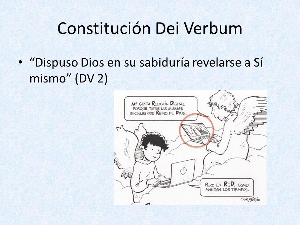 Constitución Dei Verbum Dispuso Dios en su sabiduría revelarse a Sí mismo (DV 2)