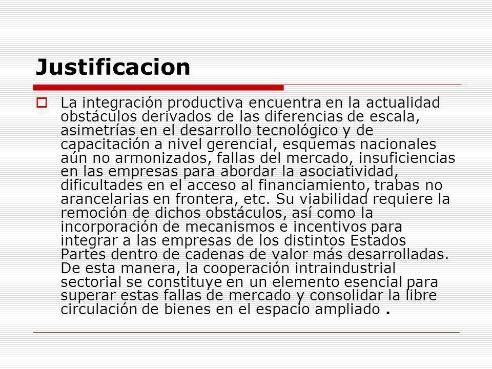 Grupo de Integración Productiva del MERCOSUR El Grupo de Integración Productiva coordinará los requerimientos de las distintas iniciativas y foros.