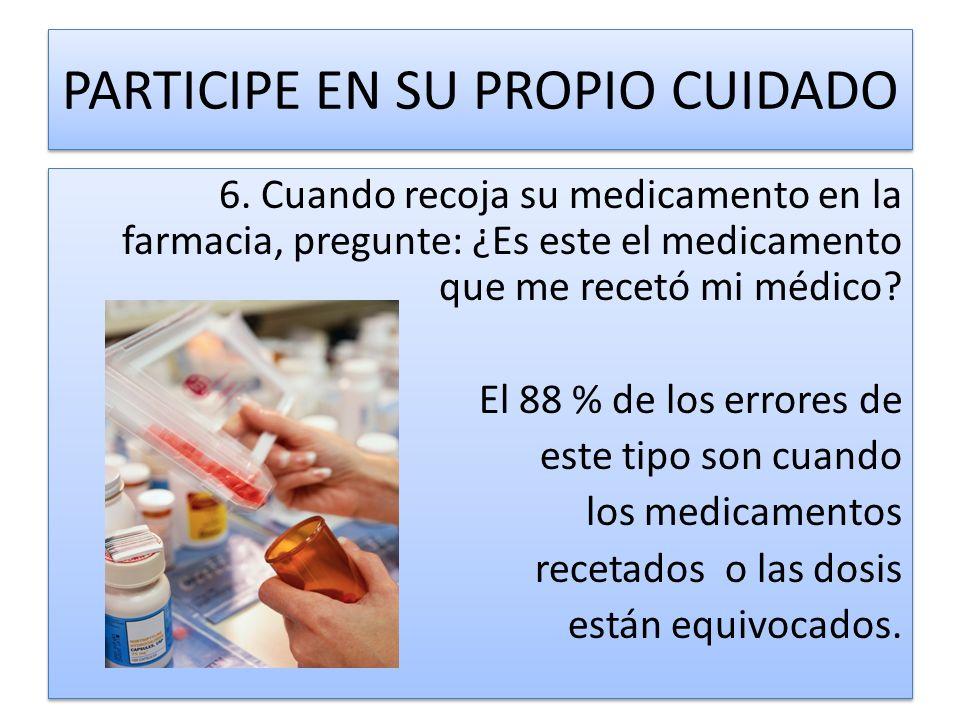 7.Si tiene alguna pregunta en cuanto a las instrucciones de uso del medicamento, hágala.