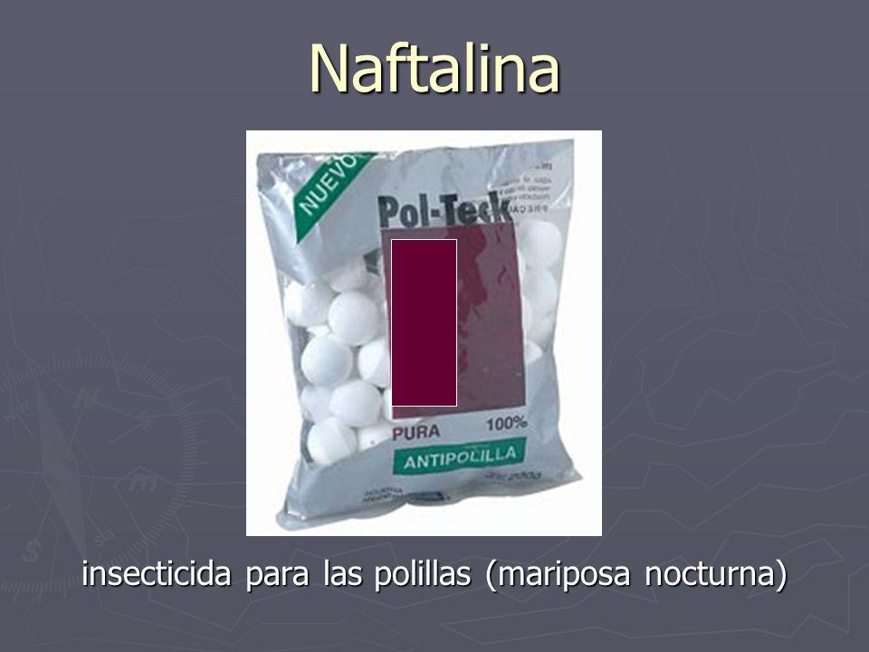 Naftalina insecticida para las polillas (mariposa nocturna)