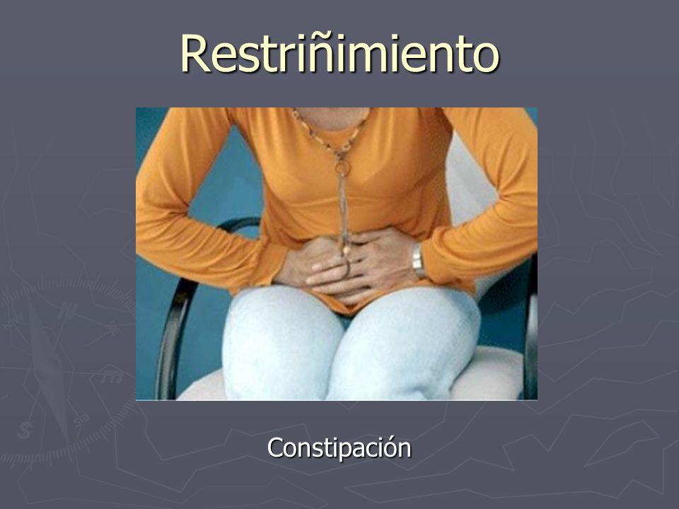 Restriñimiento Constipación