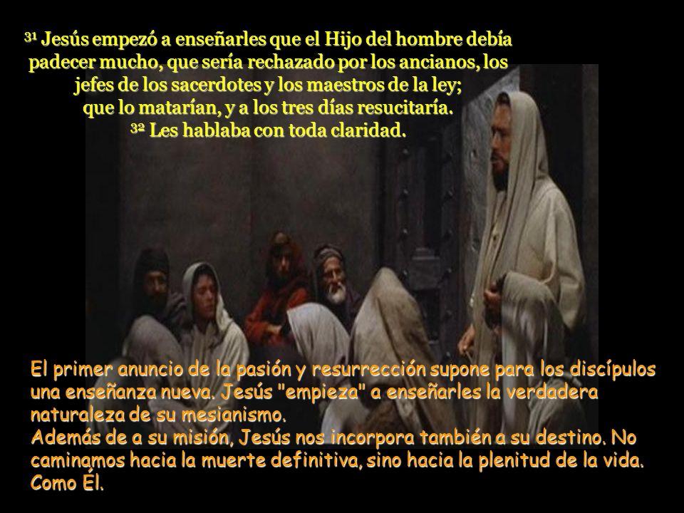 Pedro le respondió: –Tú eres el Mesías 30 Entonces Jesús les prohibió terminantemente que hablaran a nadie acerca de él. Pedro contesta correctamente,