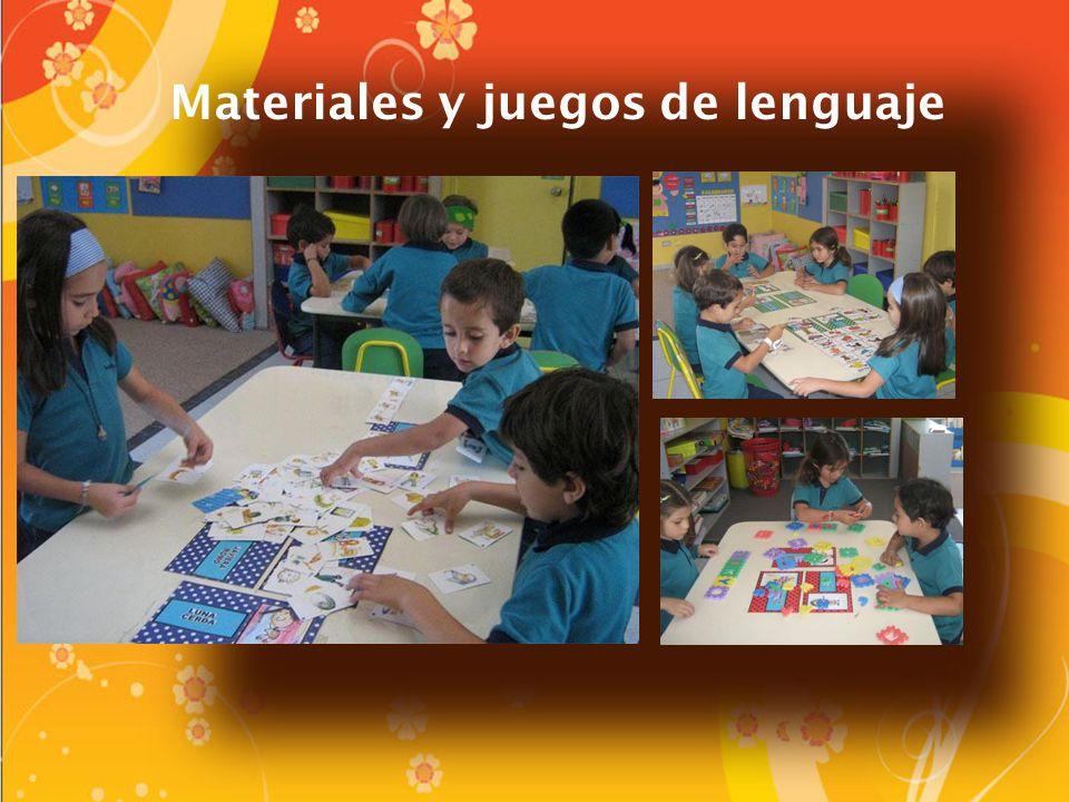Materiales y juegos de lenguaje