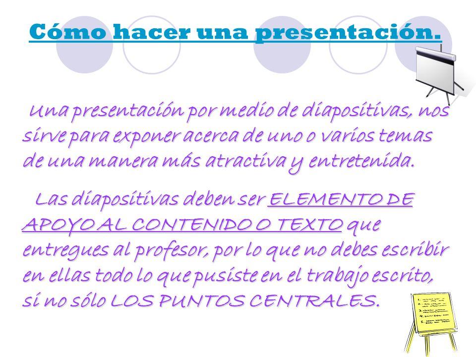 La estructura de tu presentación, debe contener lo siguiente: *INTRODUCCIÓN: Aquí pondrás los puntos principales de tu presentación.