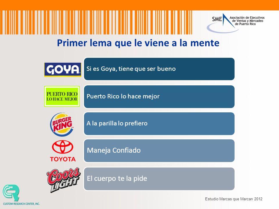 Si es Goya, tiene que ser buenoPuerto Rico lo hace mejorA la parilla lo prefiero Maneja ConfiadoEl cuerpo te la pide Primer lema que le viene a la men