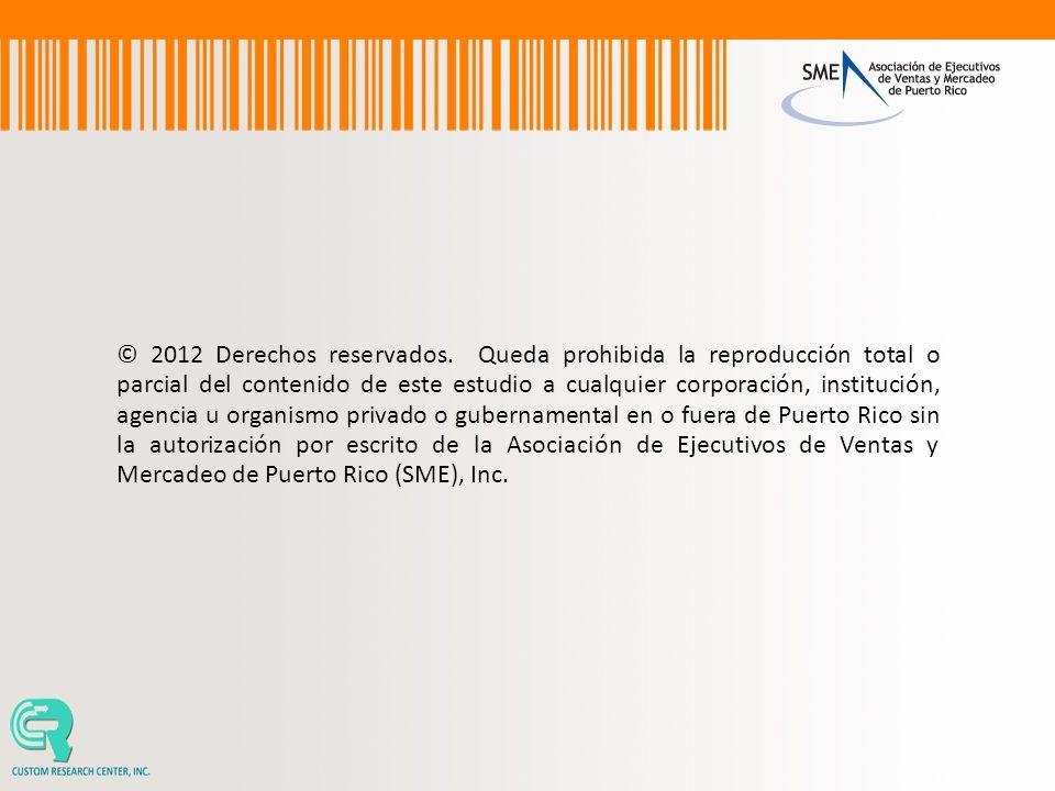 © 2012 Derechos reservados. Queda prohibida la reproducción total o parcial del contenido de este estudio a cualquier corporación, institución, agenci