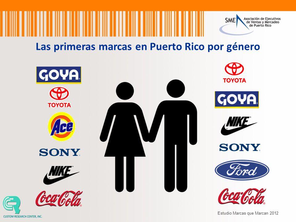 Las primeras marcas en Puerto Rico por género Estudio Marcas que Marcan 2012