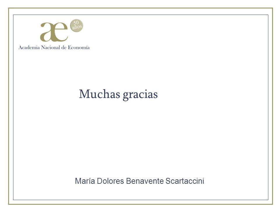 Muchas gracias María Dolores Benavente Scartaccini