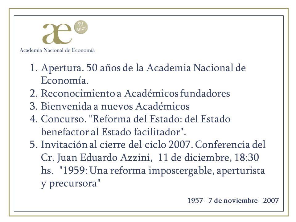 Bienvenida a nuevos Académicos Mario Abad Arrambide Andrés Cerisola Luis Romero Álvarez Alberto Sayagués Silvia Vázquez