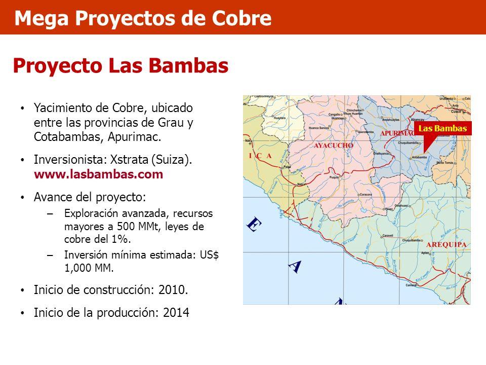 Proyecto Las Bambas Yacimiento de Cobre, ubicado entre las provincias de Grau y Cotabambas, Apurimac. Inversionista: Xstrata (Suiza). www.lasbambas.co