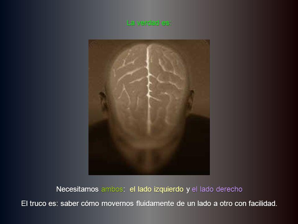 ¿Por qué molestarnos en activar nuestro lado derecho del cerebro.