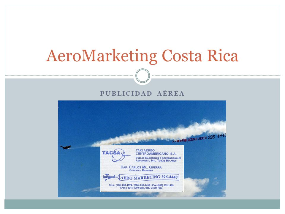 PUBLICIDAD AÉREA AeroMarketing Costa Rica