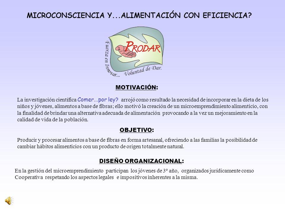 MICROCONSCIENCIA Y...ALIMENTACIÓN CON EFICIENCIA.
