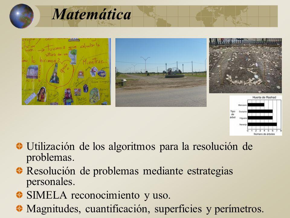 Utilización de los algoritmos para la resolución de problemas.