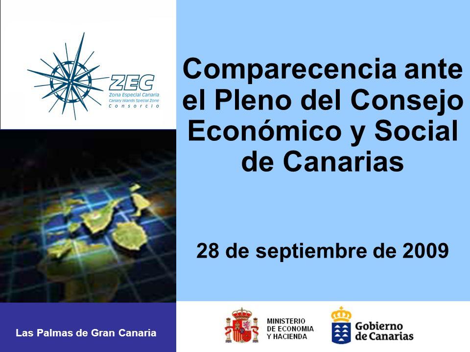 Comparecencia ante el Pleno del Consejo Económico y Social de Canarias 28 de septiembre de 2009 Las Palmas de Gran Canaria