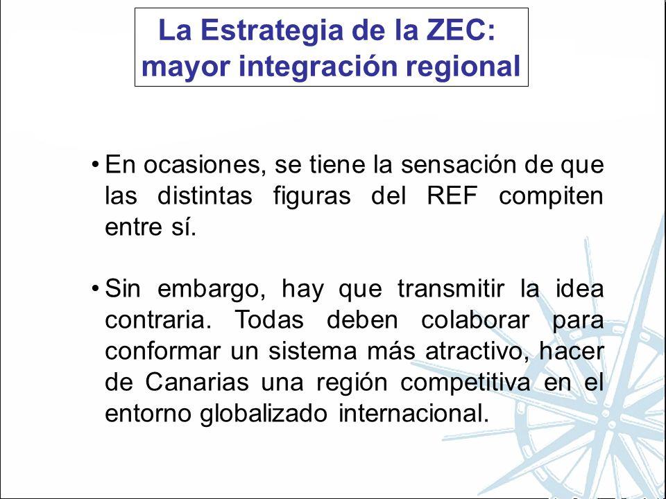 La Estrategia de la ZEC: mayor integración regional En ocasiones, se tiene la sensación de que las distintas figuras del REF compiten entre sí.