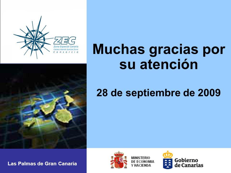 Muchas gracias por su atención 28 de septiembre de 2009 Las Palmas de Gran Canaria