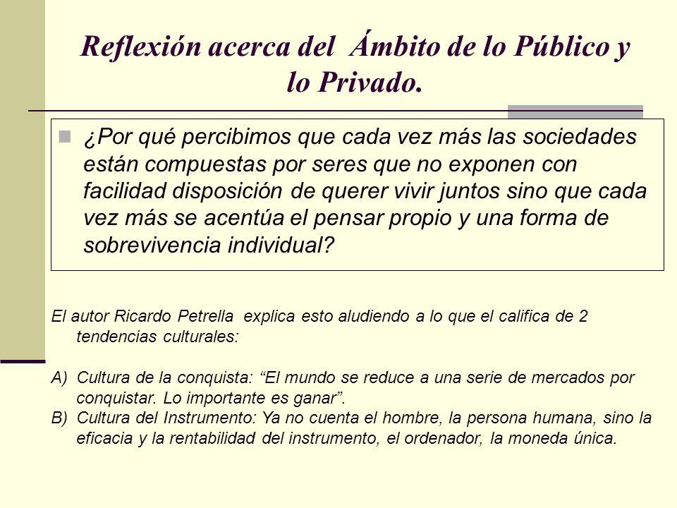 Reflexión acerca del Ámbito de lo Público y lo Privado. ¿Por qué percibimos que cada vez más las sociedades están compuestas por seres que no exponen