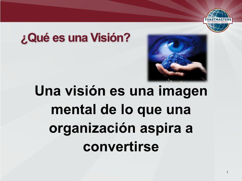 Una visión es una imagen mental de lo que una organización aspira a convertirse 1 ¿Qué es una Visión?