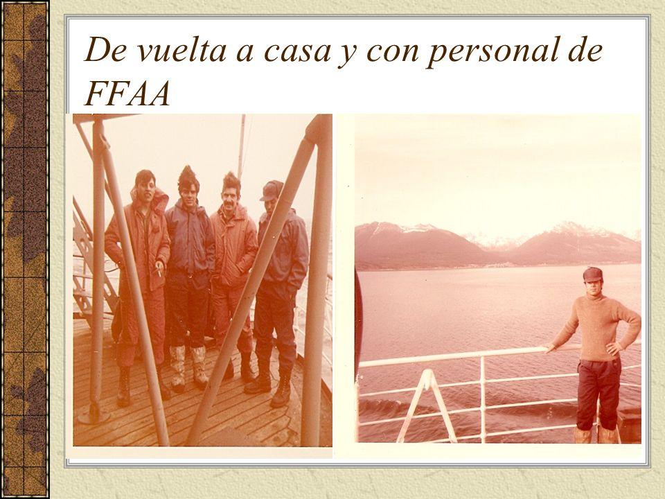 De vuelta a casa y con personal de FFAA
