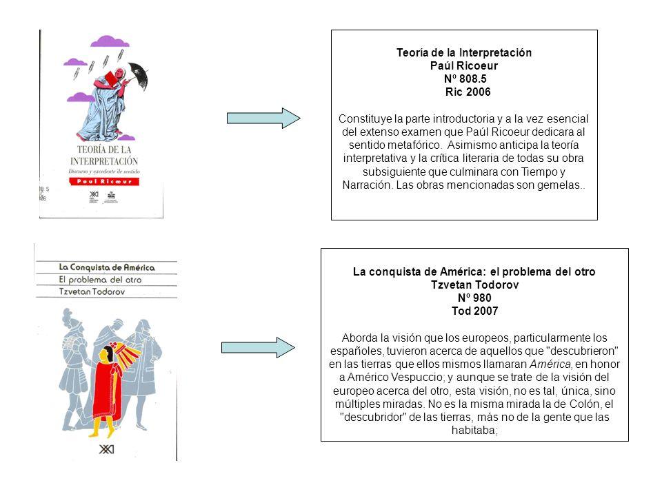 Teoría de la Interpretación Paúl Ricoeur Nº 808.5 Ric 2006 Constituye la parte introductoria y a la vez esencial del extenso examen que Paúl Ricoeur d
