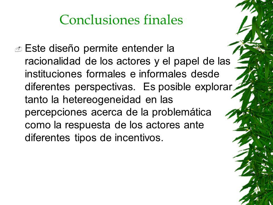 Conclusiones finales Es posible cruzar información cualitativa y cuantitativa lo que permite ampliar el análisis.