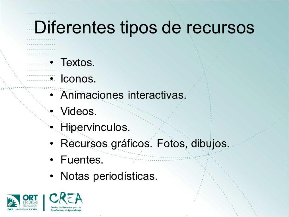 Diferentes tipos de actividades Actividades off-line y on-line.