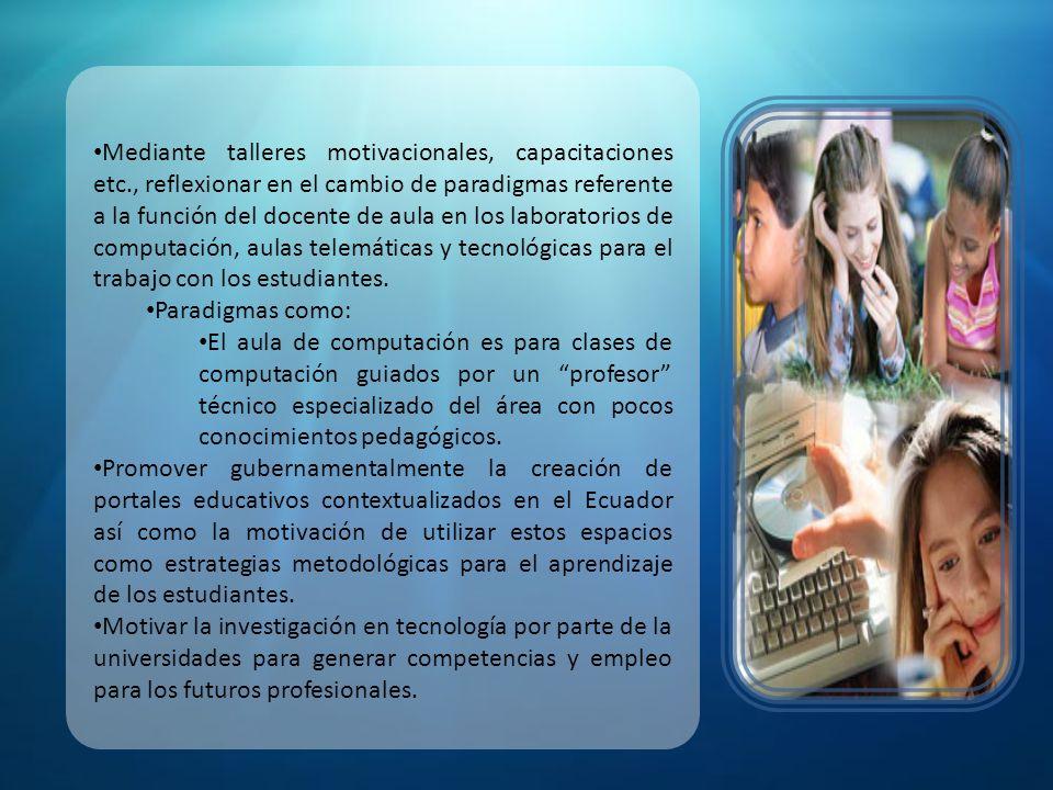 Realizar un estudio del impacto del software educativo así como de los sistemas operativos utilizados en los centros educativos.