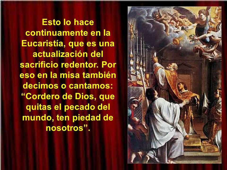 La sangre inocente de Cristo nos limpia y nos embellece por medio de su amor. Viene a traernos la esperanza de que el pecado puede ser vencido: violen
