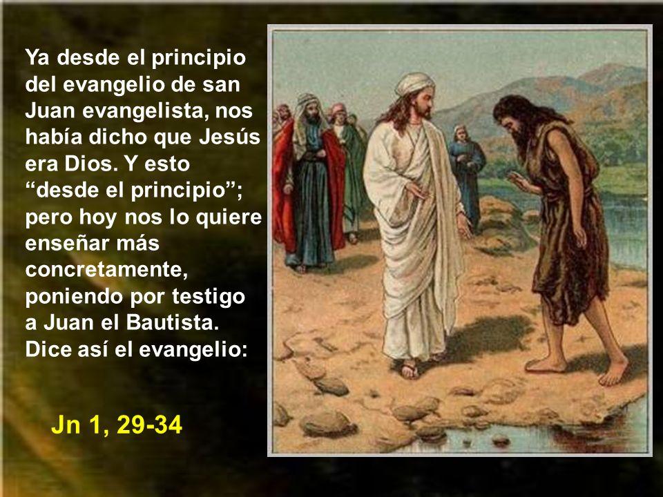 El evangelio de hoy está en el intermedio entre el bautismo de Jesús y el comienzo de su predicación. Hoy el evangelista, por boca de san Juan Bautist