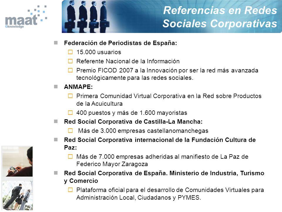 Federación de Periodistas de España: 15.000 usuarios Referente Nacional de la Información Premio FICOD 2007 a la Innovación por ser la red más avanzad