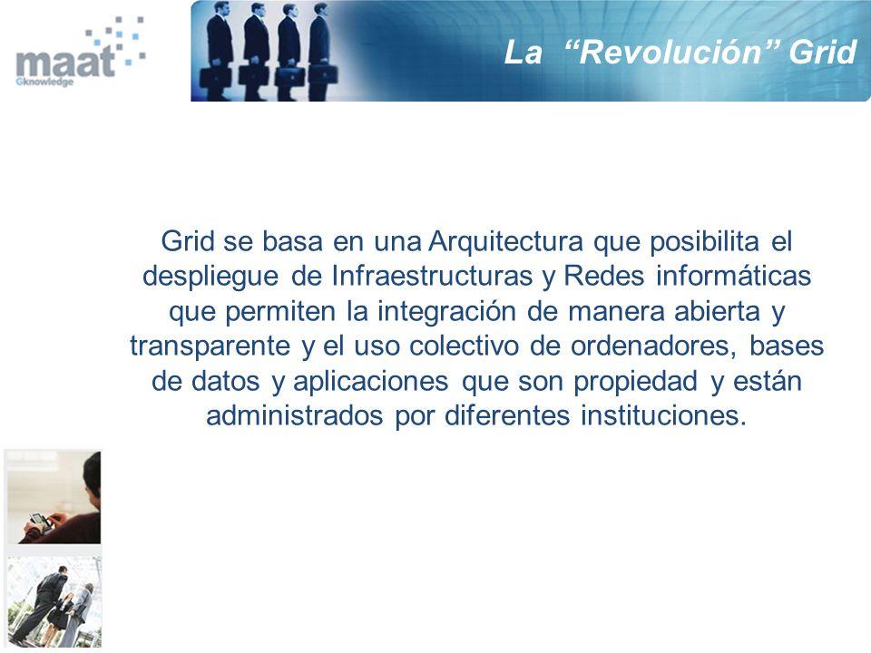 La Revolución Grid Grid se basa en una Arquitectura que posibilita el despliegue de Infraestructuras y Redes informáticas que permiten la integración