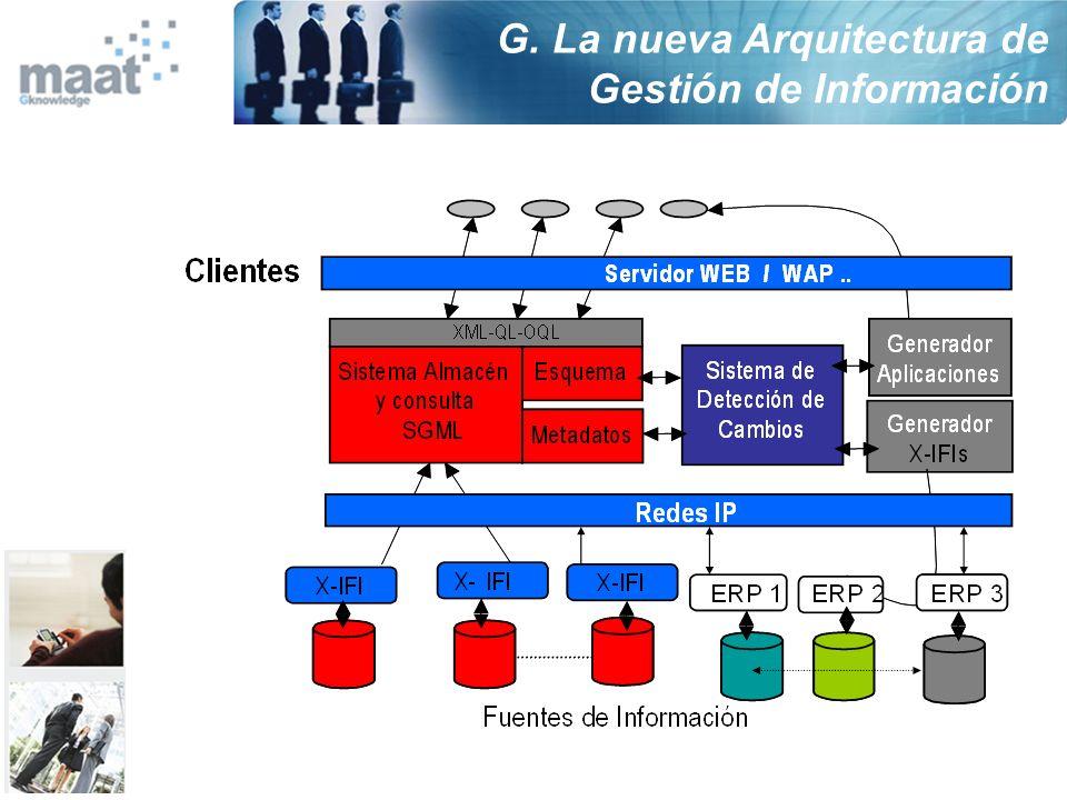 G. La nueva Arquitectura de Gestión de Información