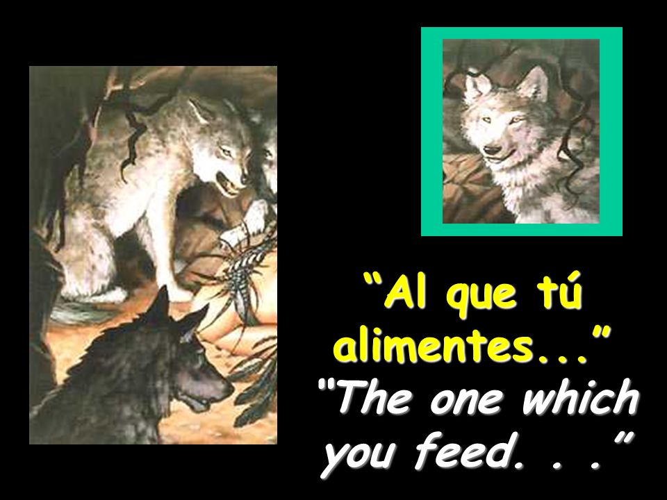 Al que tú alimentes... The one which you feed...