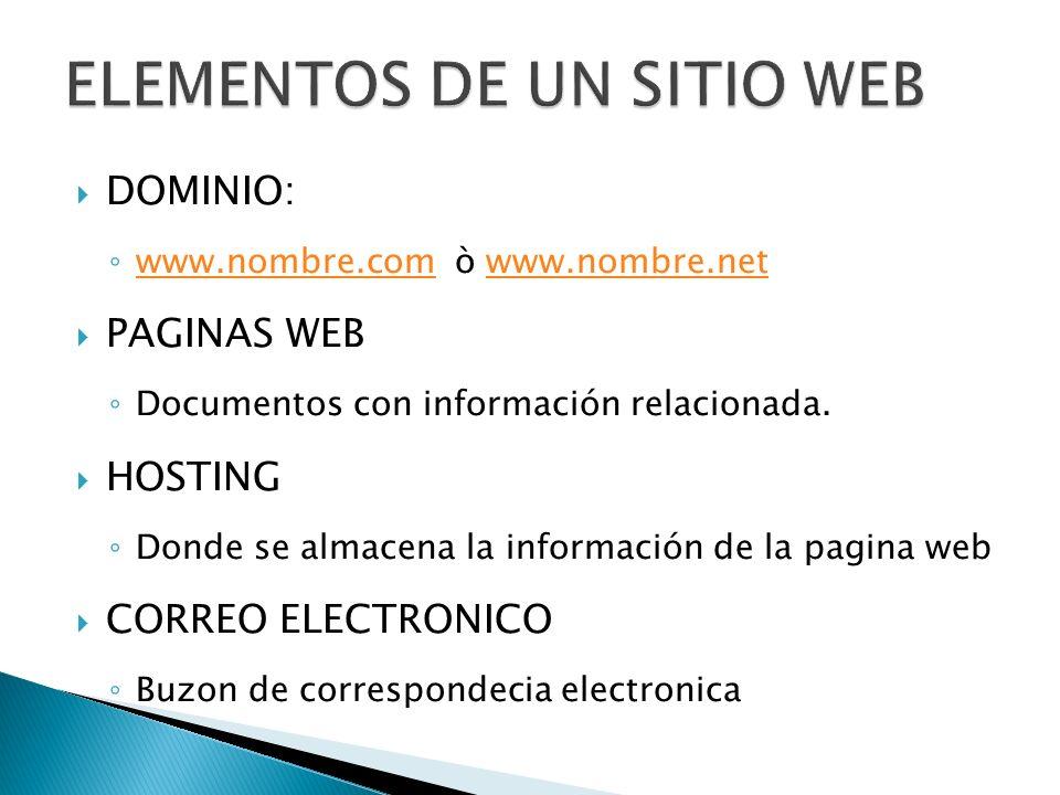 Dominio.com,.com.mx,.net ó.net.mx Hosting de 500mb 50 correos electrónicos Calendario de citas Área de contacto Page creator Actualizaciones ilimitadas.