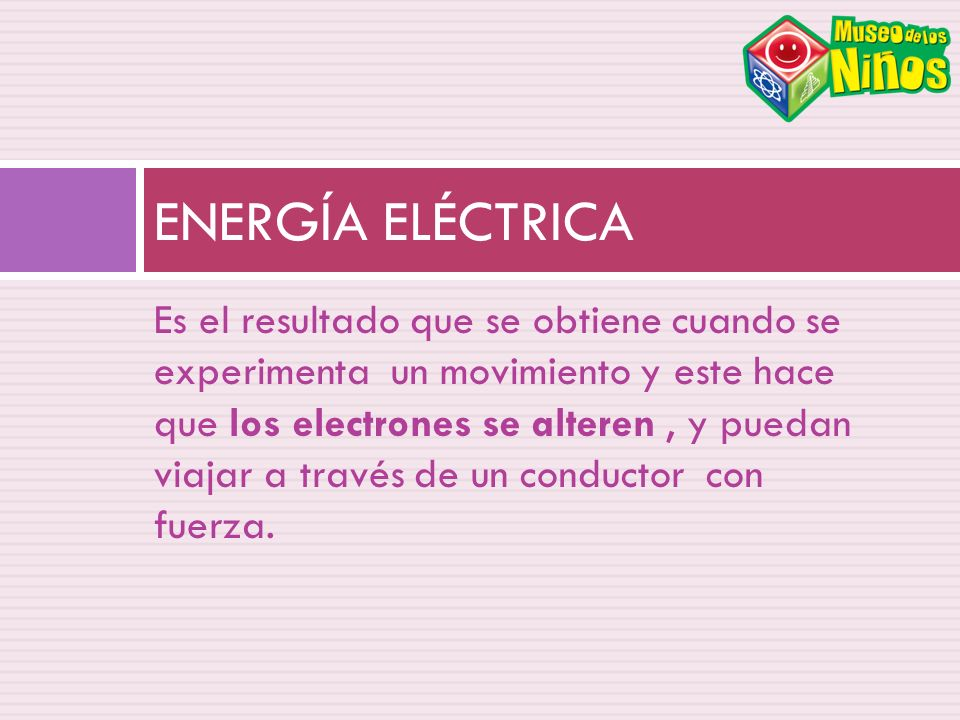 Es el resultado que se obtiene cuando se experimenta un movimiento y este hace que los electrones se alteren, y puedan viajar a través de un conductor