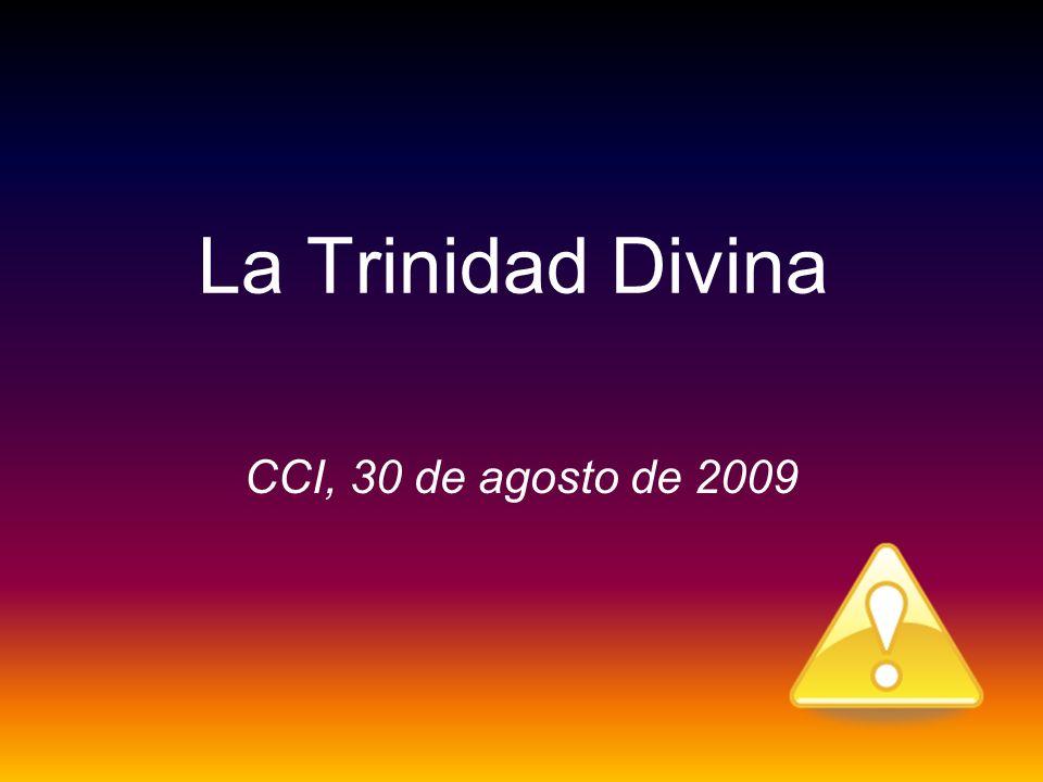 La Trinidad Divina CCI, 30 de agosto de 2009