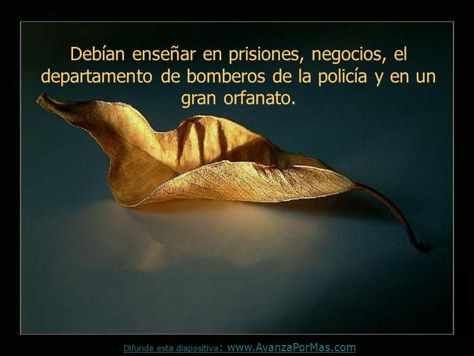 La invitación era para enseñar moral y ética en las escuelas públicas, basada en principios bíblicos Difunde esta diapositiva : www.AvanzaPorMas.com