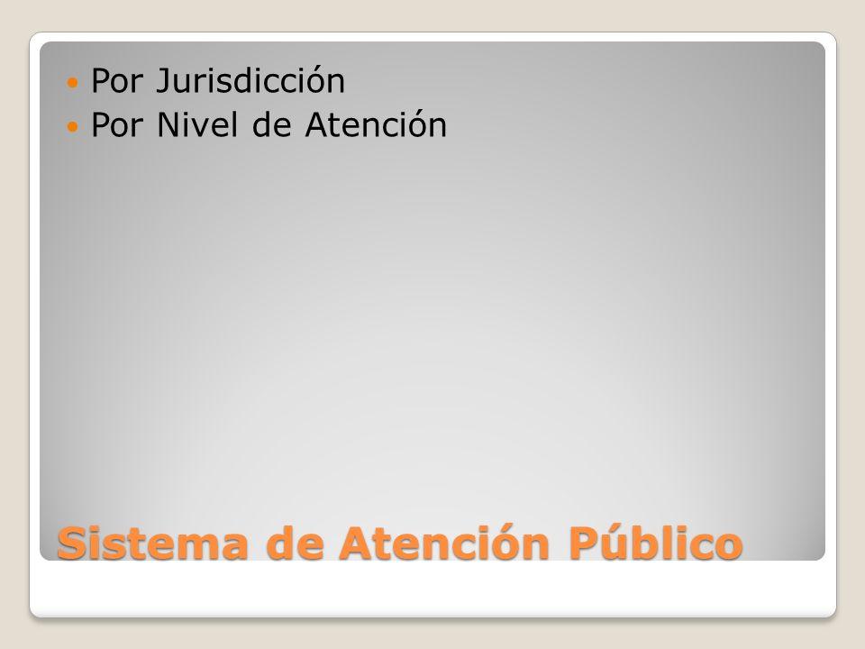 Sistema de Atención Público Por Jurisdicción Por Nivel de Atención