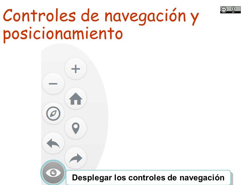 TALLER SITNA PARA MÓVILES SITNA en tu móvil Controles de navegación y posicionamiento Desplegar los controles de navegación