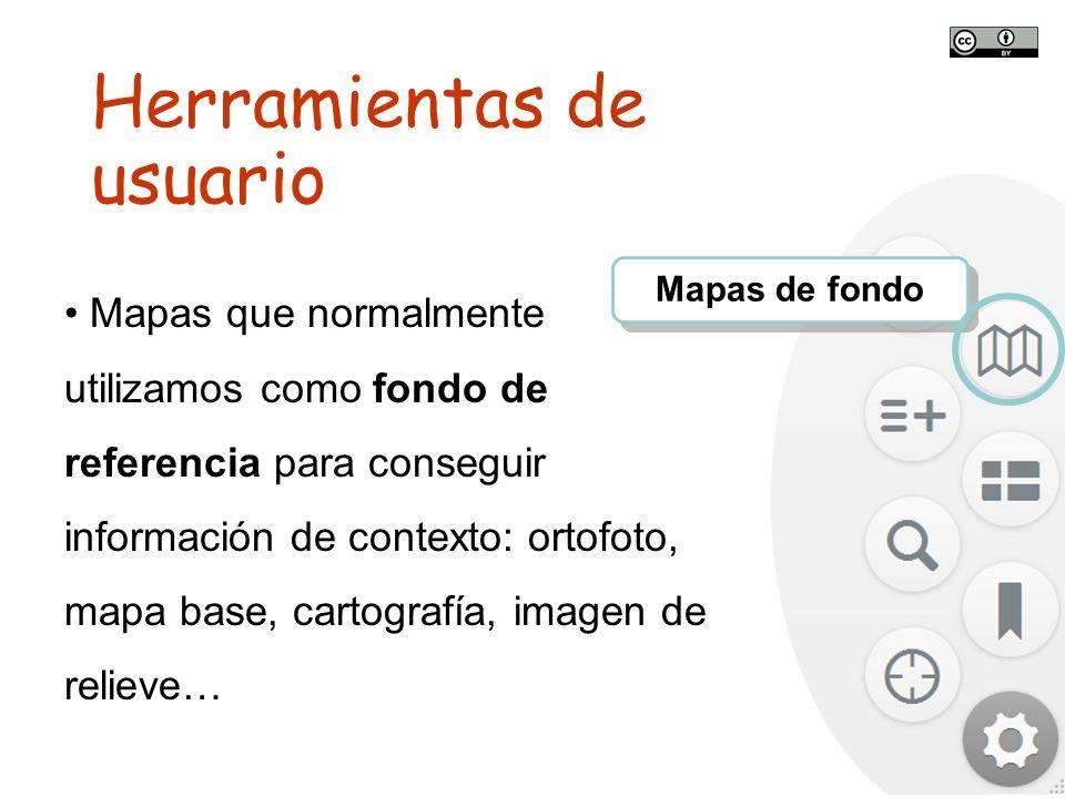 TALLER SITNA PARA MÓVILES SITNA en tu móvil Mapas de fondo Mapas que normalmente utilizamos como fondo de referencia para conseguir información de con