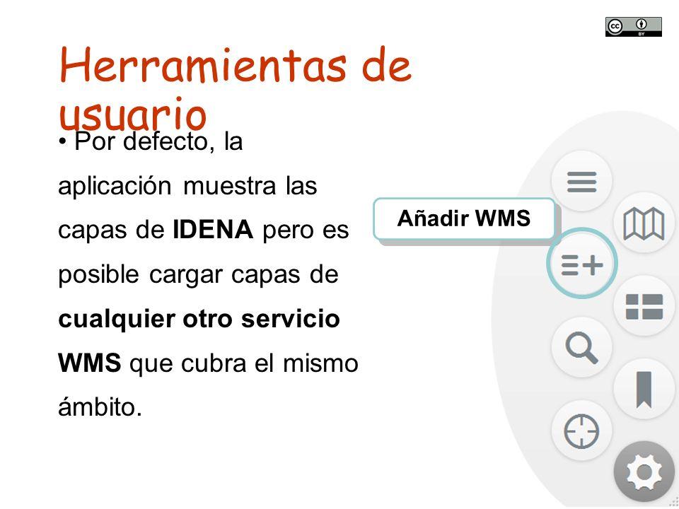 TALLER SITNA PARA MÓVILES SITNA en tu móvil Añadir WMS Por defecto, la aplicación muestra las capas de IDENA pero es posible cargar capas de cualquier